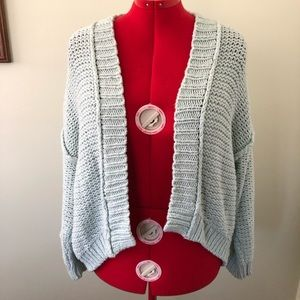 Anthropologie Moth chunky cardigan mint